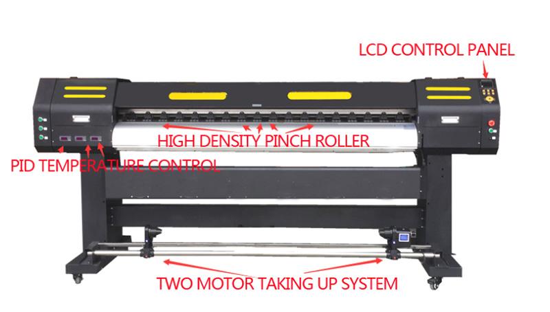 1.6m double epson tx800 heads eco solvent inkjet printer2